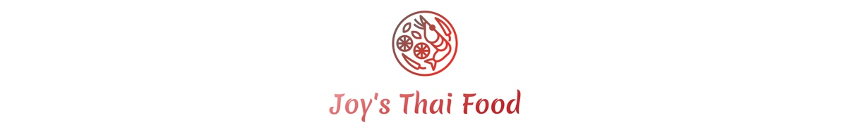 Joy's Thai Food logo and header for JoysThaiFood.com.